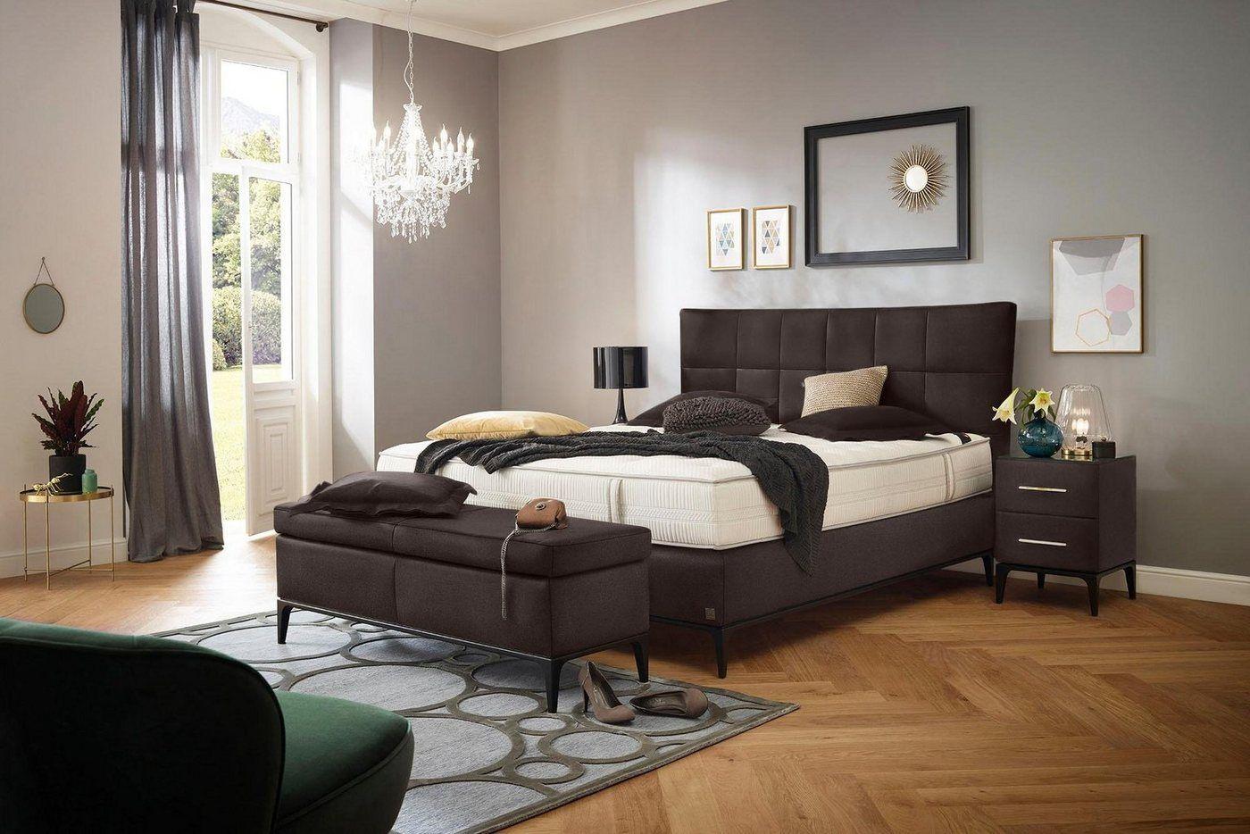 Boxspringbett, H2, braun »Smart Elegance«, ADA premium