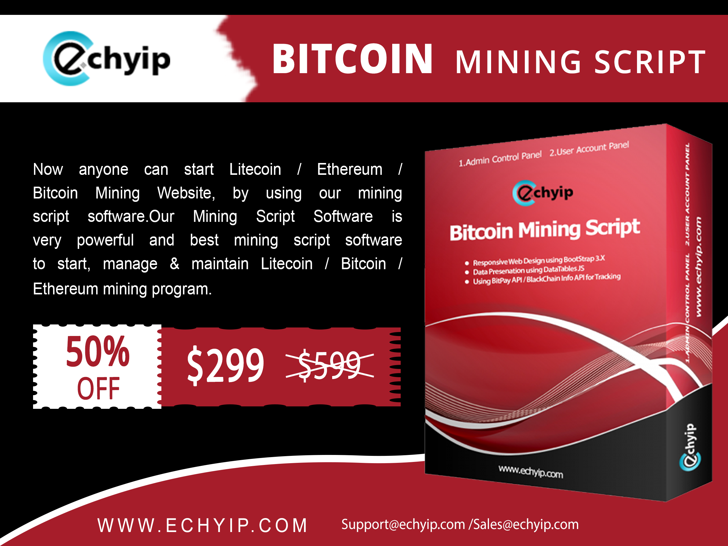 Get a highly secured, mobile-friendly interface based Bitcoin mining