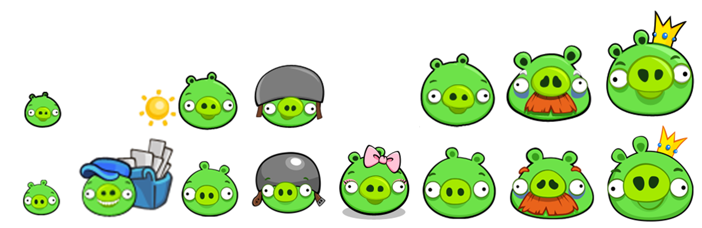 Pigs All Classic Modern Png 2 766 899 Pixels Angry Birds Pigs Angry Birds Pig