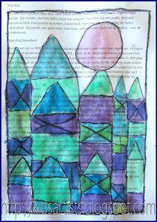 Kids Artists Castle And Sun Like Paul Klee I Like This Idea Of