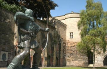 Nottingham Castle - England - It was a major royal fortress in the middle ages. The most famous staute of Robin Hood is located here.