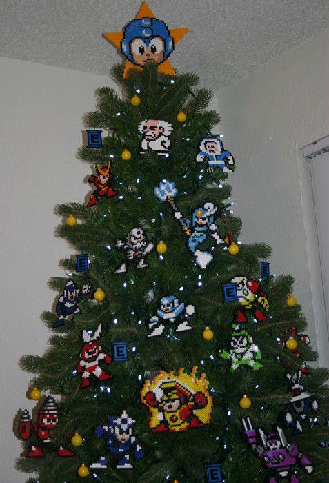 8bitfix Mega Man Christmas Tree Nerd Christmas Mega Man Art Mega Man