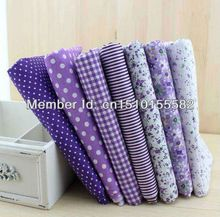 Free shipping 7 pcs/lot purple Series Cotton fabric Patchwork fabric Square,Fat Quater Bundle Quilting 50*50cm(China (Mainland))