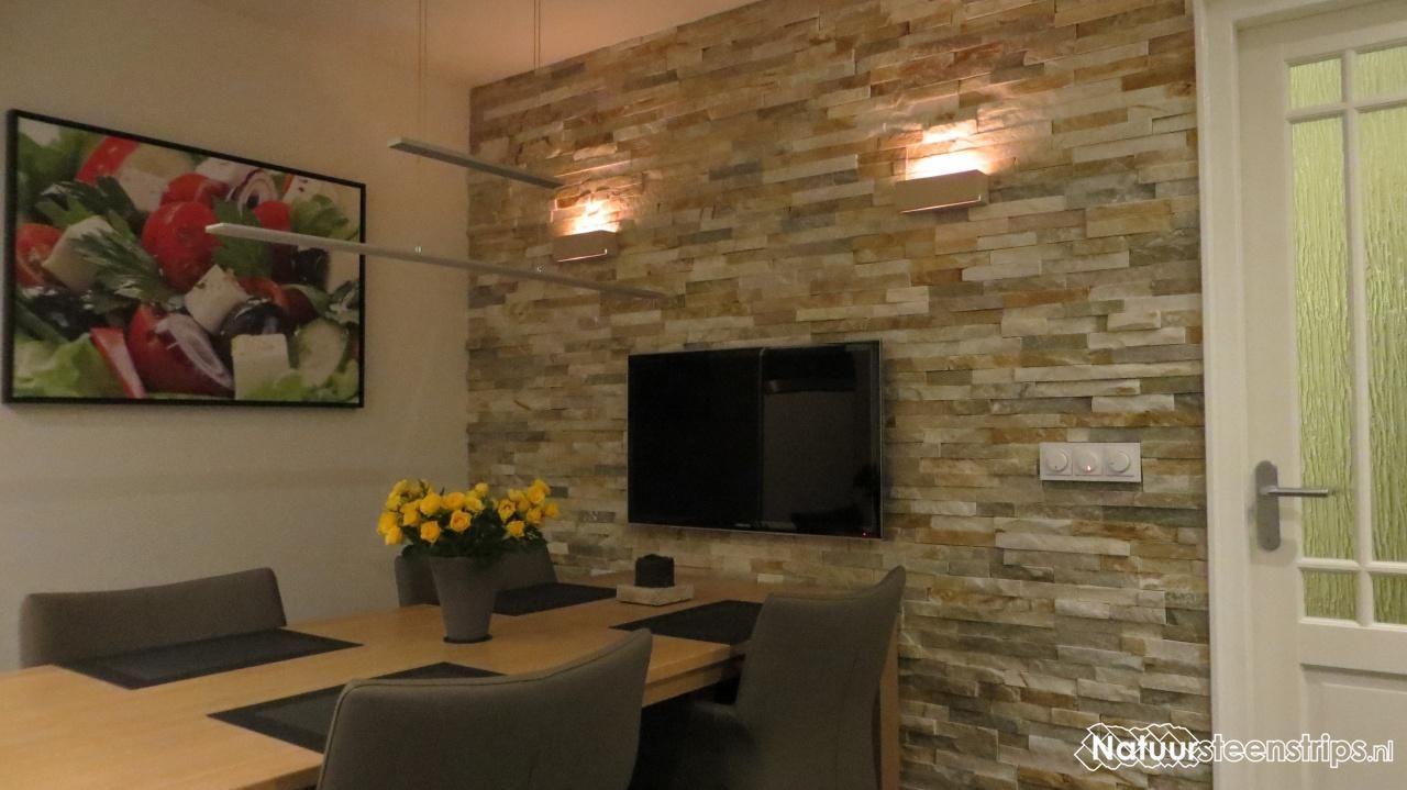natuursteenstrips woonkamer - Google zoeken   Ideeën voor het huis ...