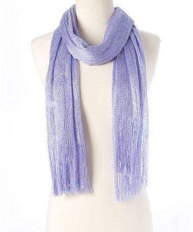 Look at this #zulilyfind! Light Purple Sparkle Scarf #zulilyfinds
