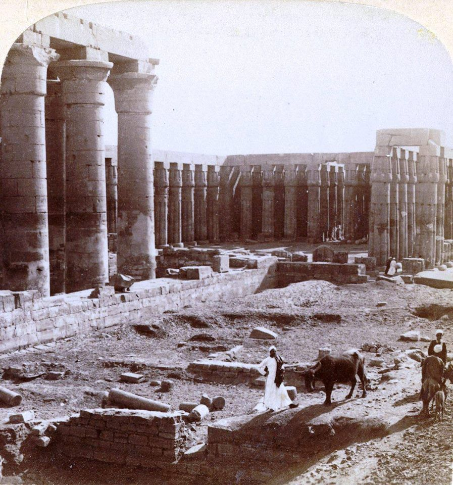 Stereoview of the Luxor Tempel ca. 1900