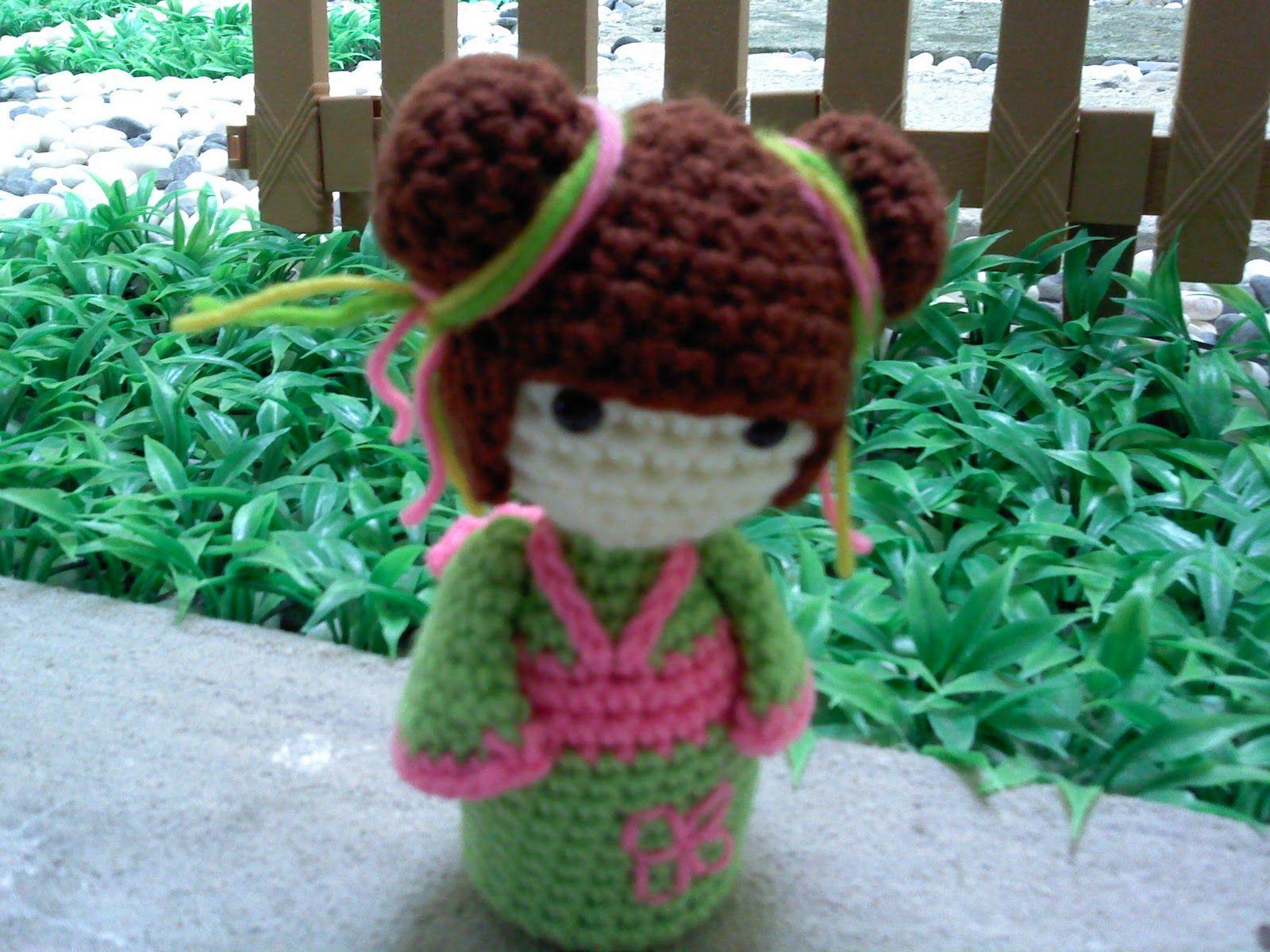 Amigurumi Kokeshi Doll Pattern : Hook & yarn ~ ~: crochet kokeshi doll kokeshi pinterest
