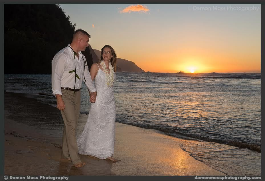 Ke E Beach November Beachwedding Sunsetwedding Kauai