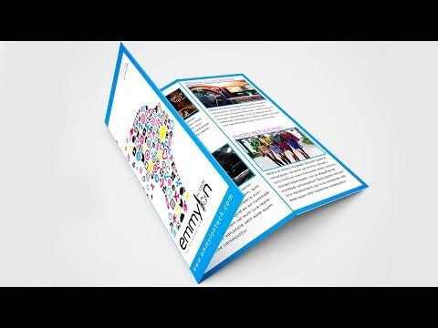 Tri Fold Brochure Design Layout Adobe Illustrator Speedart