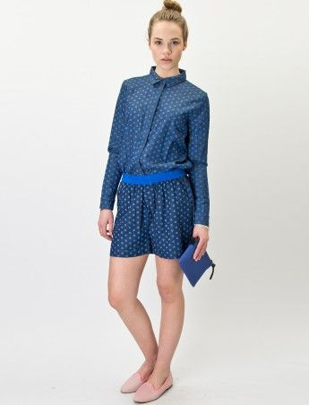 JAZZ - BLUE DOT - Playsuit- Samsøe Samsøe