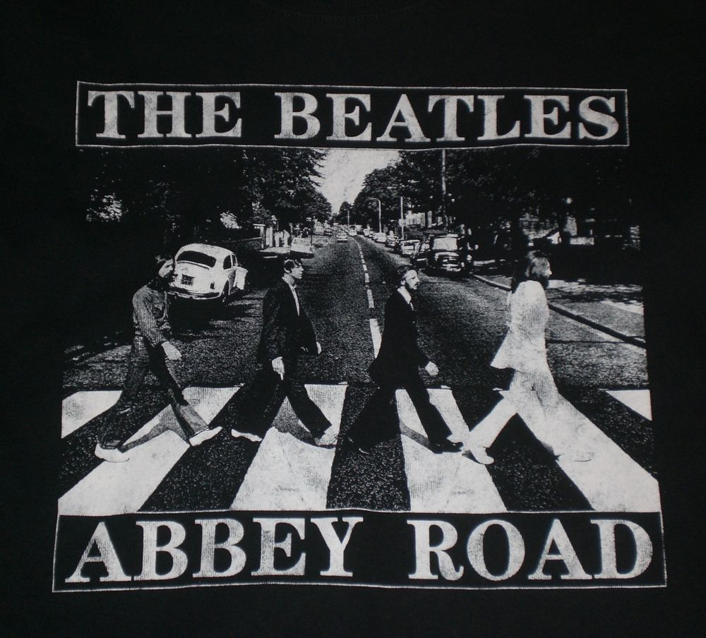 Black And White Abbey Road Poster