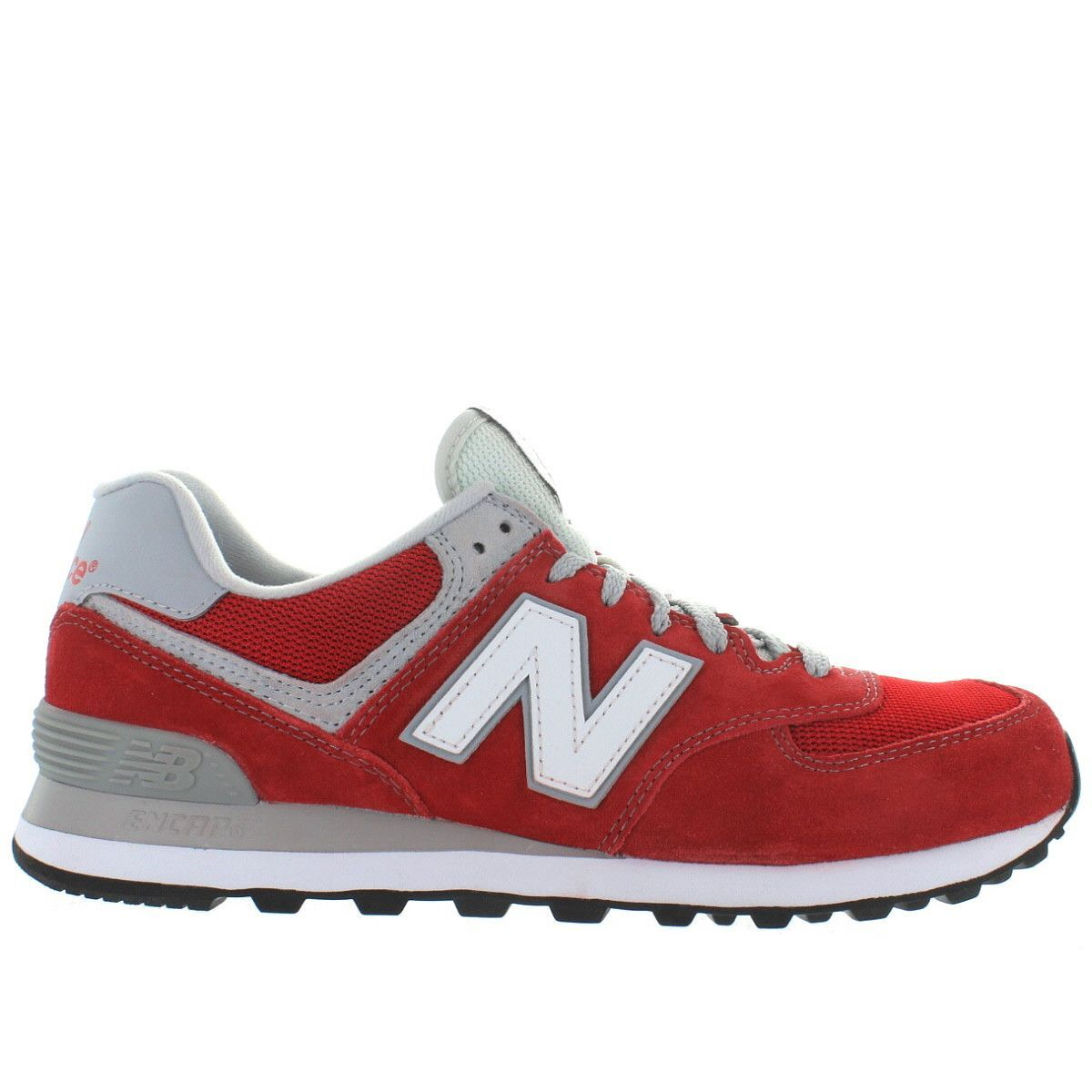 New Balance 574 - Red Suede/Mesh Classic Running Sneaker