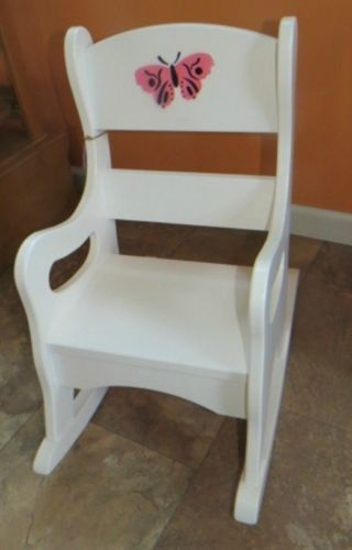 Brilliant Rocking Chair Amish Handmade Child Rocker Oak Or White Wood Andrewgaddart Wooden Chair Designs For Living Room Andrewgaddartcom