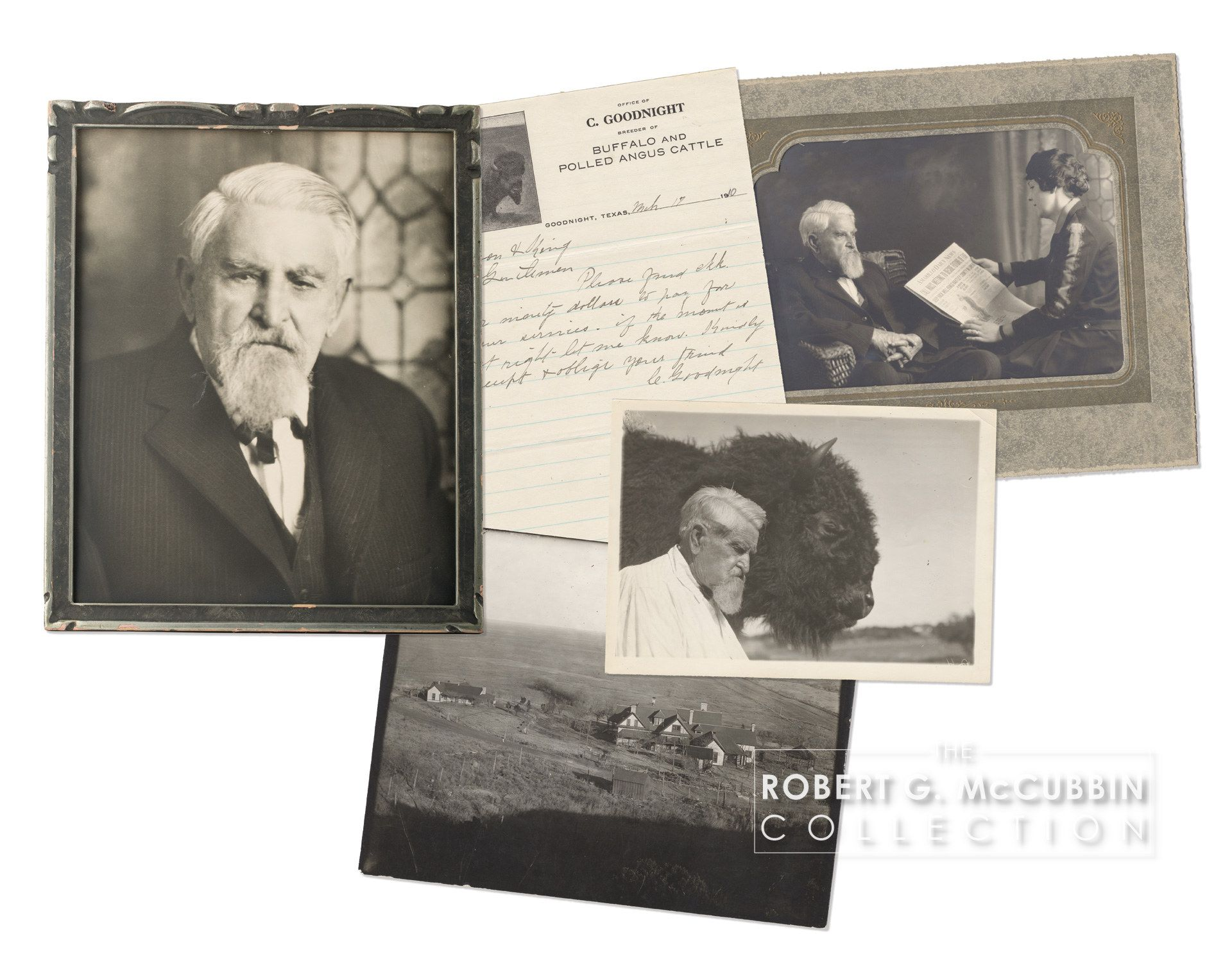 Photographs And Letter Of Charles Goodnight Charles Goodnight History Icon Old West