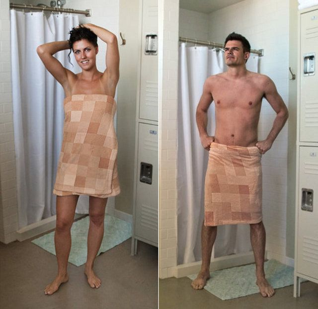 тетя забрала полотенце с душа у парня фото девушек