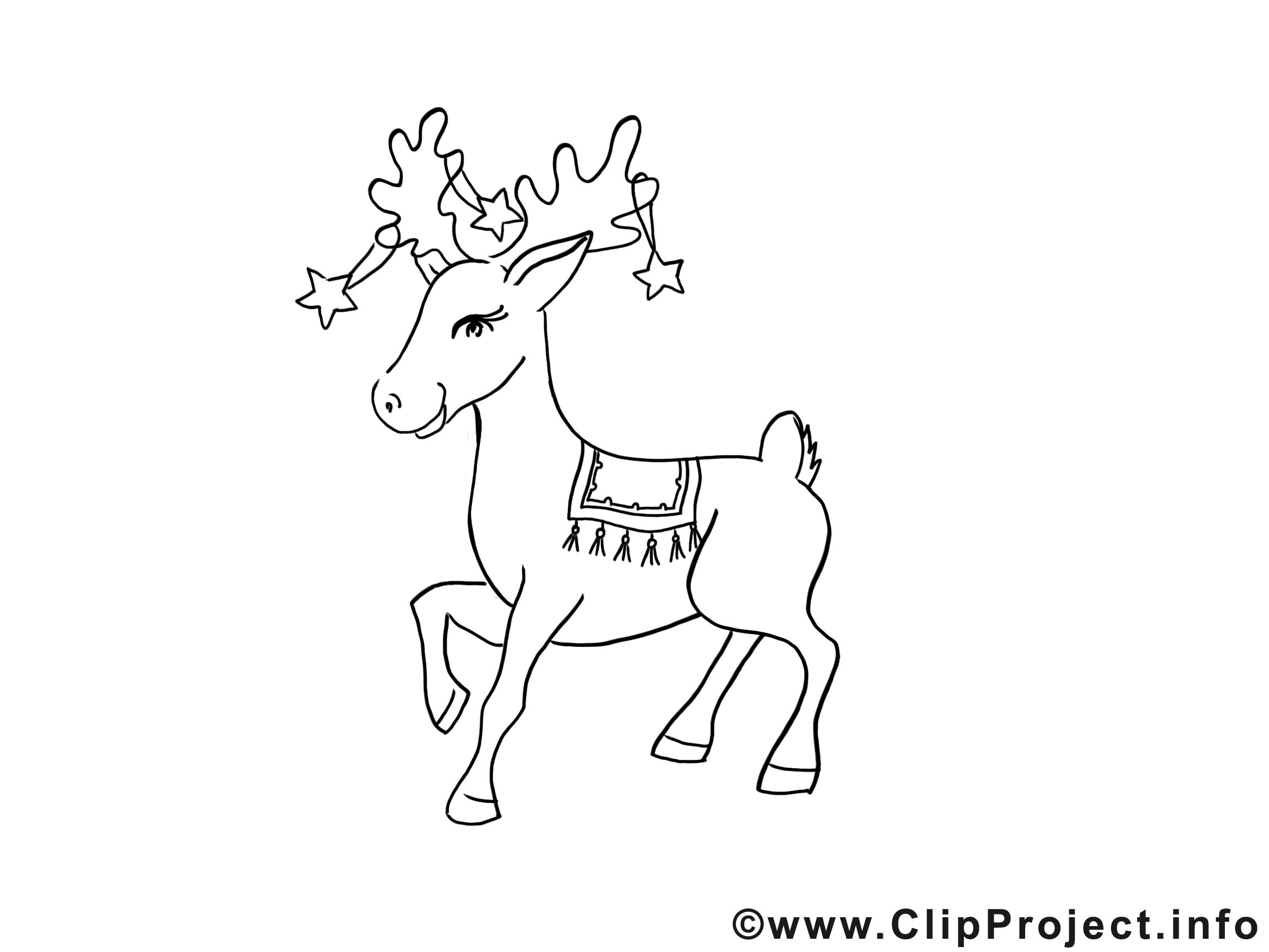Malen für Kindern - Reh zu Weihnachten | coloring 2 | Pinterest ...