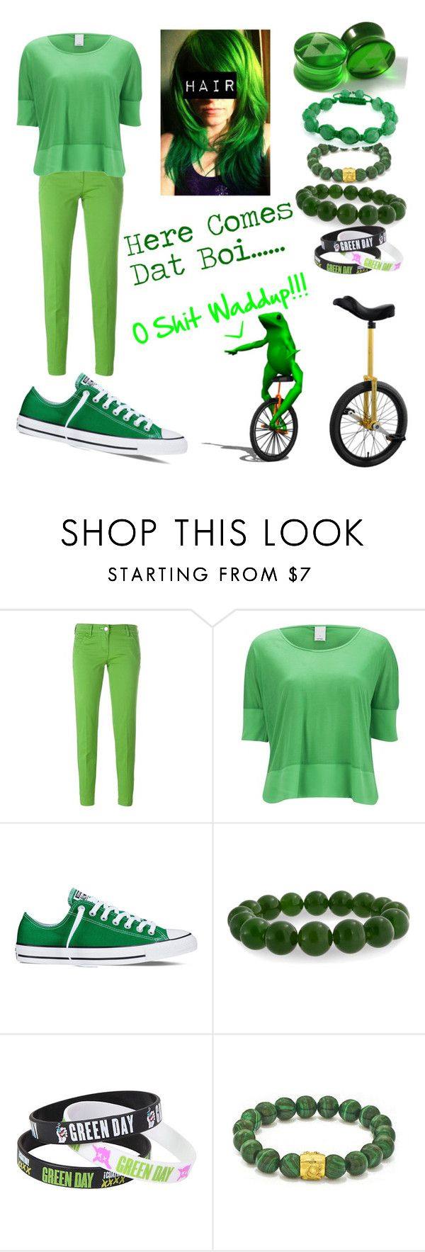 """""""Dat Boi {Dank Meme}"""" by alice-killjoy01 ❤ liked on Polyvore featuring Jacob Cohёn, Vero Moda, Nimbus, Converse and Bling Jewelry"""