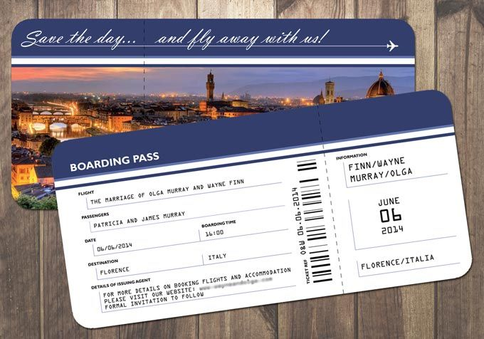 Plane Ticket Wedding Invitation Template | Ctsfashion.Com