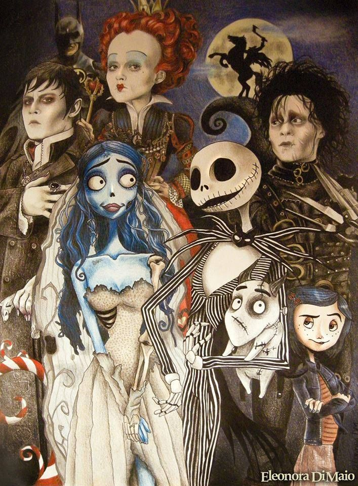 Great Tribute To Tim Burton And Henry Selick Coraline Tim Burton Art Tim Burton Films Tim Burton Characters