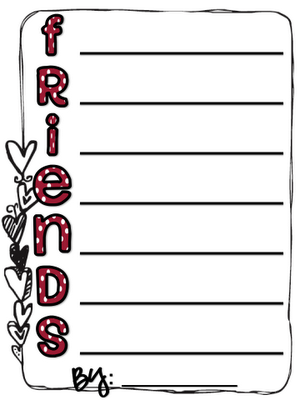 Friends Acrostic Poem - great for Valentine's Day | Writing ...