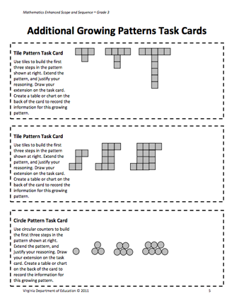 Here S A Nice Lesson Plan And Activities On Growing Patterns