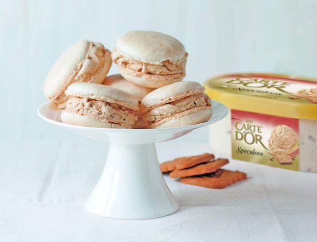Macarons glacés saveur spéculosMacarons glacés saveur spéculos