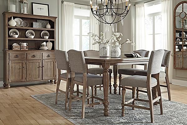 The Tanshire Counter Height Dining Room Table From Ashley