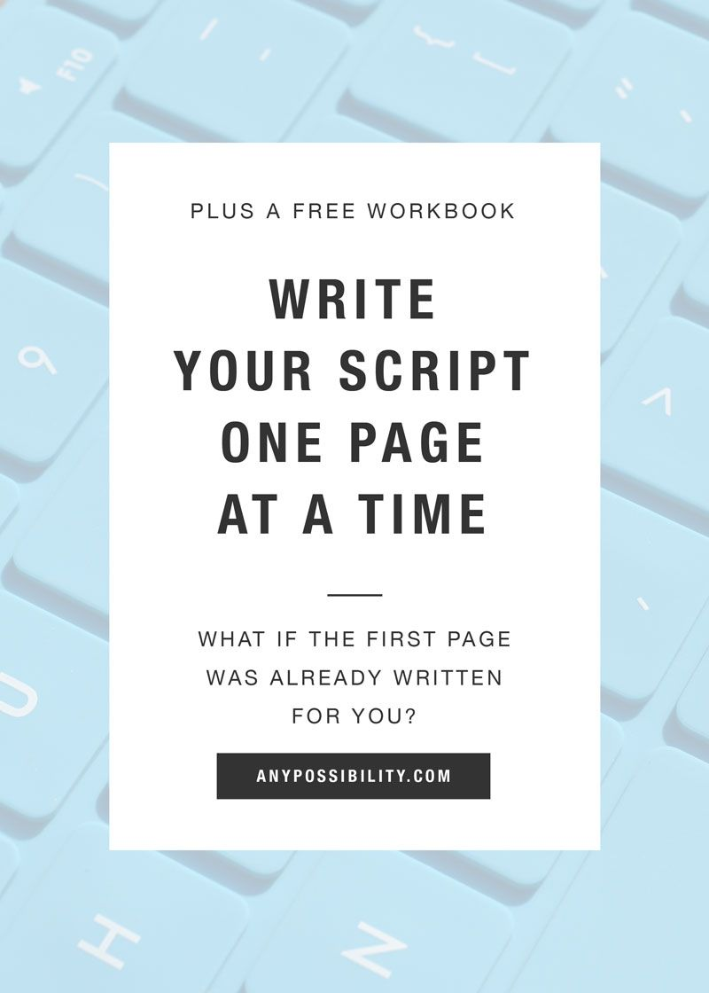 One Page Challenge Write Your Screenplay Now Any Possibility Writing First Page Screenplay [ 1120 x 800 Pixel ]