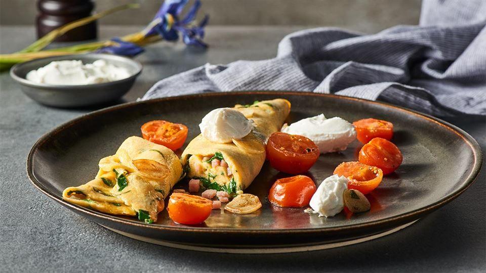 Omlet Ze Szpinakiem I Szynka Przepis Recipe Food Breakfast Cereal