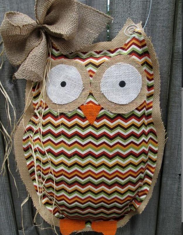 Burlap Door Hanger DIY Burlap Fabric