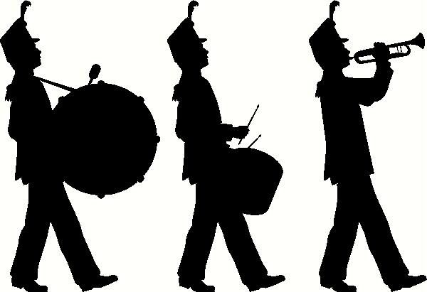 free clip art marching band | Marching Band Vinyl Decal | Car ...
