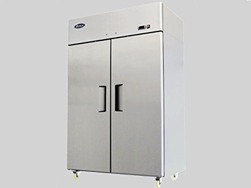 52 Double 2 Door Side By Side Stainless Steel Reach In Commercial Refrigerator Commercial Refrigerators Stainless Steel Refrigerator Locker Storage