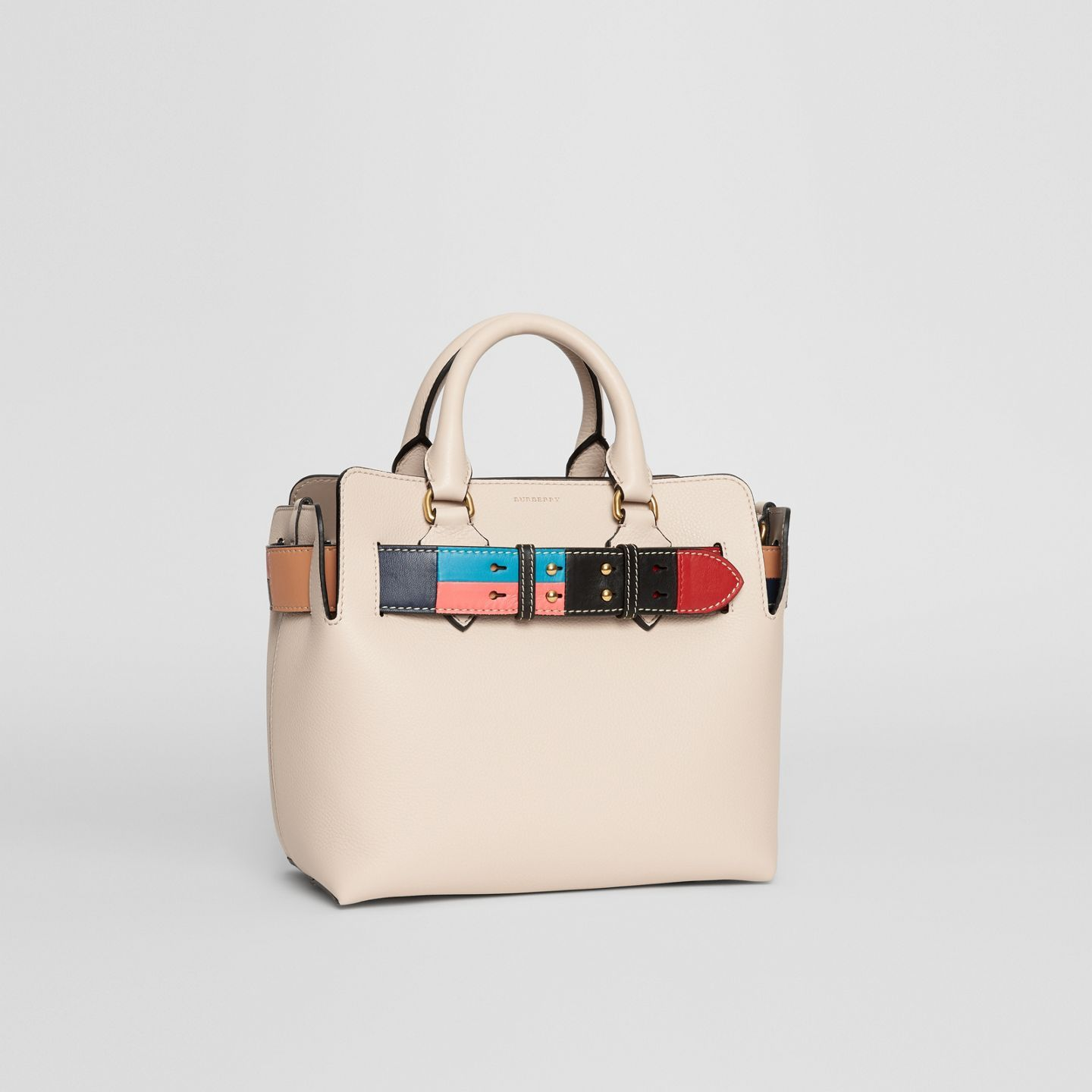 834a42f52 The Small Leather Colour Block Detail Belt Bag in Limestone - Women |  Burberry United States