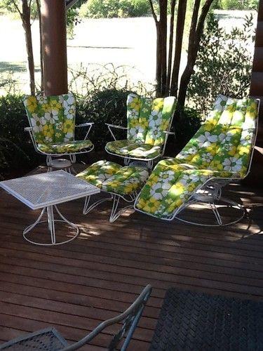 5 Pc Vintage Homecrest Mid Century Modern Outdoor Furniture Patio