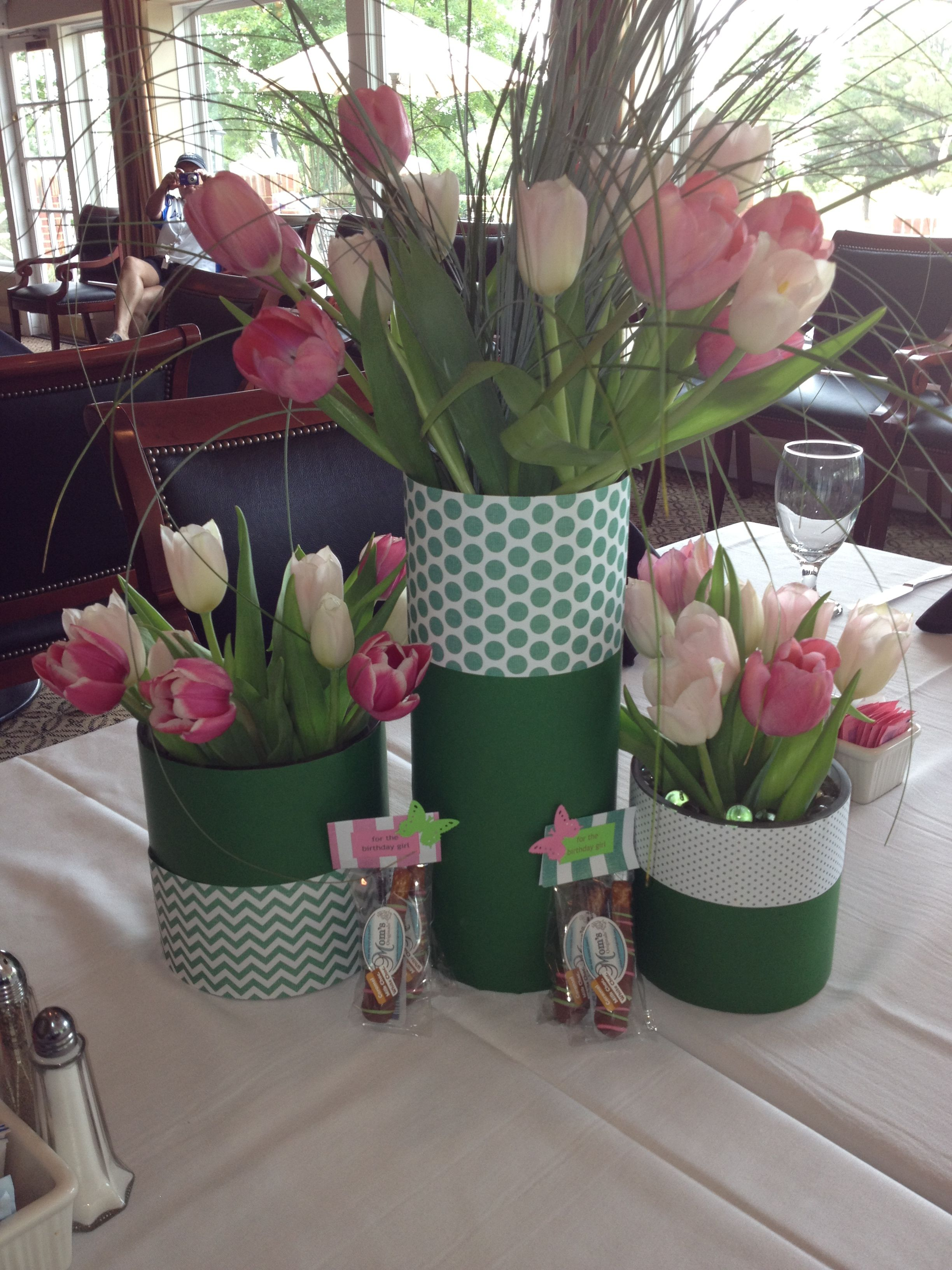40th Birthday Dinner Party Ideas Part - 35: Floral Centerpieces For A 40th Birthday Dinner. Inspiration Found On  HWTM--luv Her