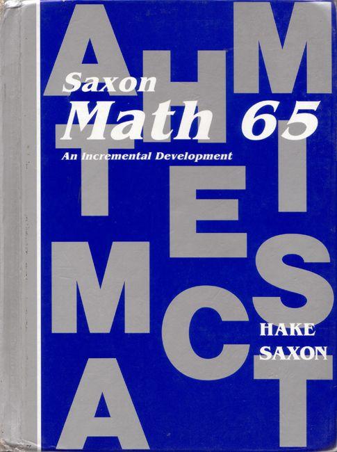 Saxon Math 65 1st Ed Text Used Homeschool Pinterest Math