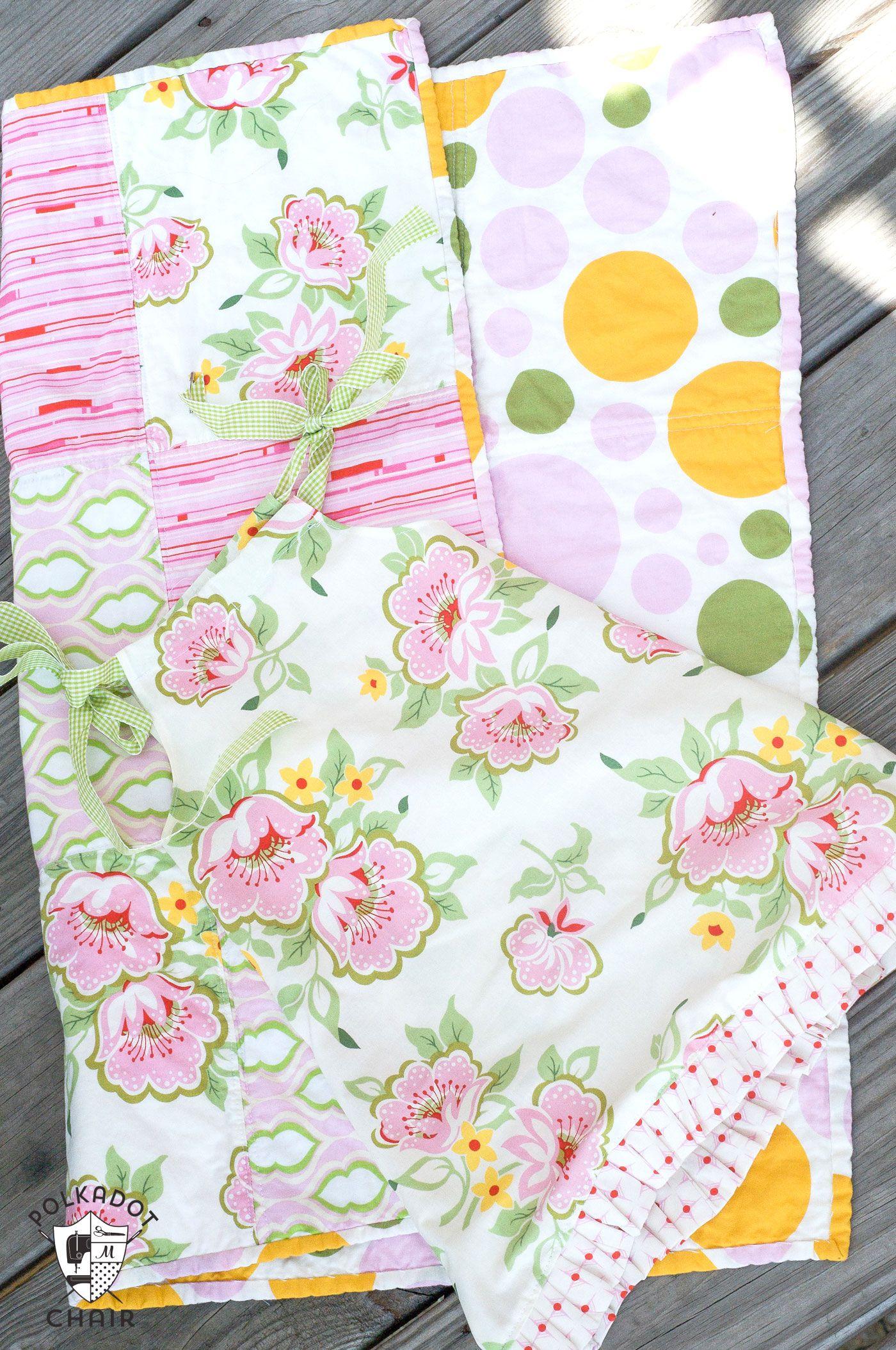 Tutorial: Fat Quarter Baby Dress & Easy Baby Quilt -   Pillowcase ... : pillowcase quilt pattern - Adamdwight.com
