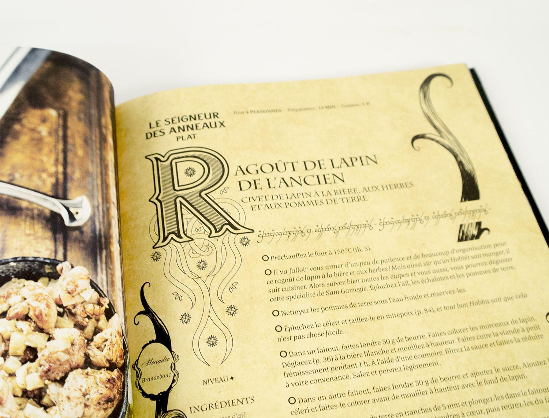 gastronogeek livre de cuisine inspir par les cultures de l 39 imaginaire recette le seigneur. Black Bedroom Furniture Sets. Home Design Ideas