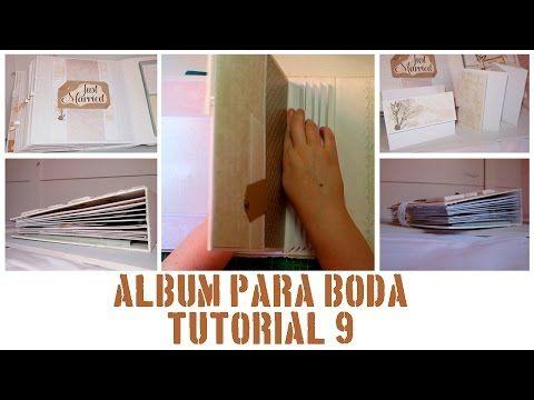 ÁLBUM DE BODA - PASO A PASO - TUTORIAL 9: PÁGINA 16 Y ENCUADERNACIÓN - YouTube