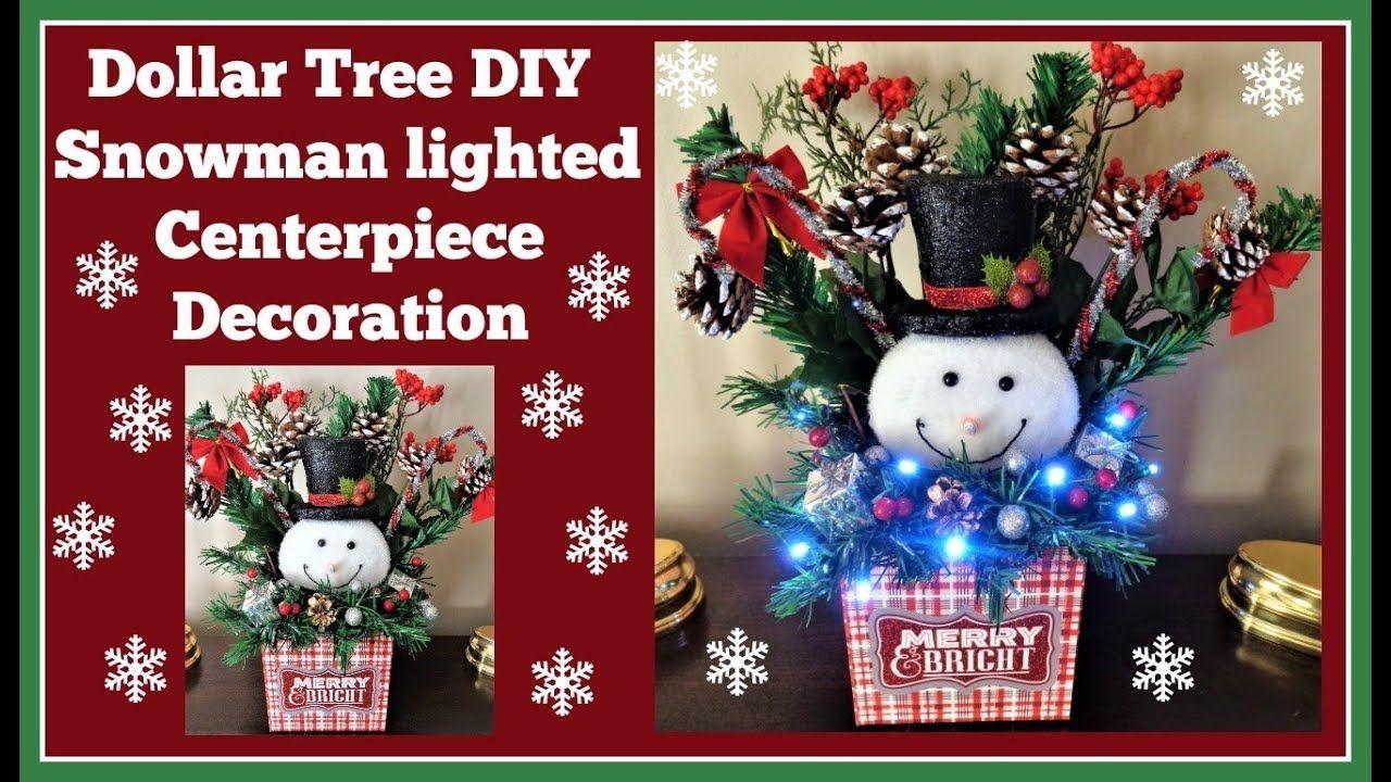 Dollar Tree Diy Snowman Light Up Decoration Made With Dollar Tree