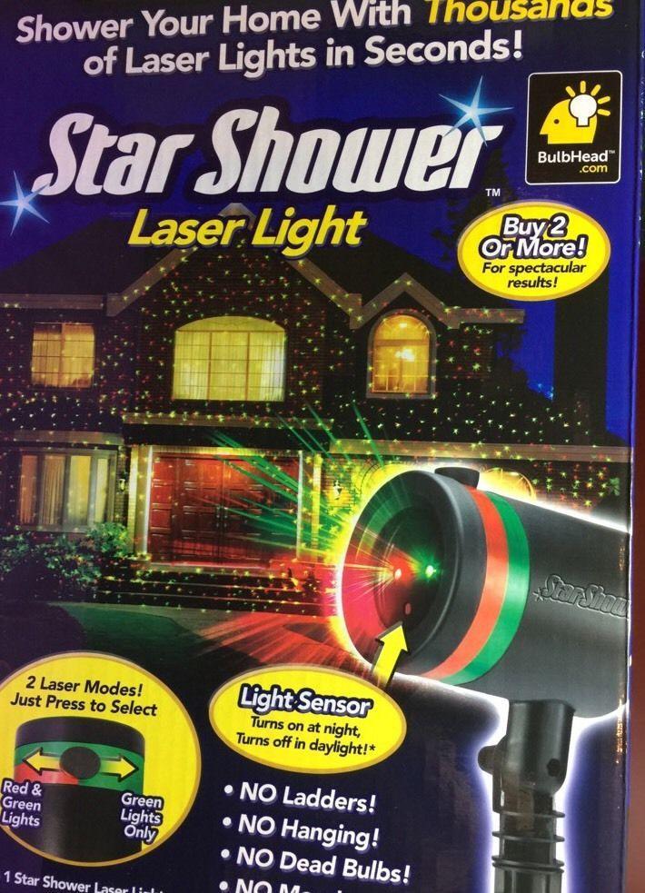 Star Shower Laser Light As Seen On Tv Fast Shipping New Telebrands Laser Party Lights Star Shower Star Projector