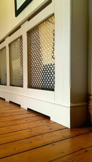 Radiator Cover With Solid Brass Grille Interior Design Living Room Interior Design Radiator Cover