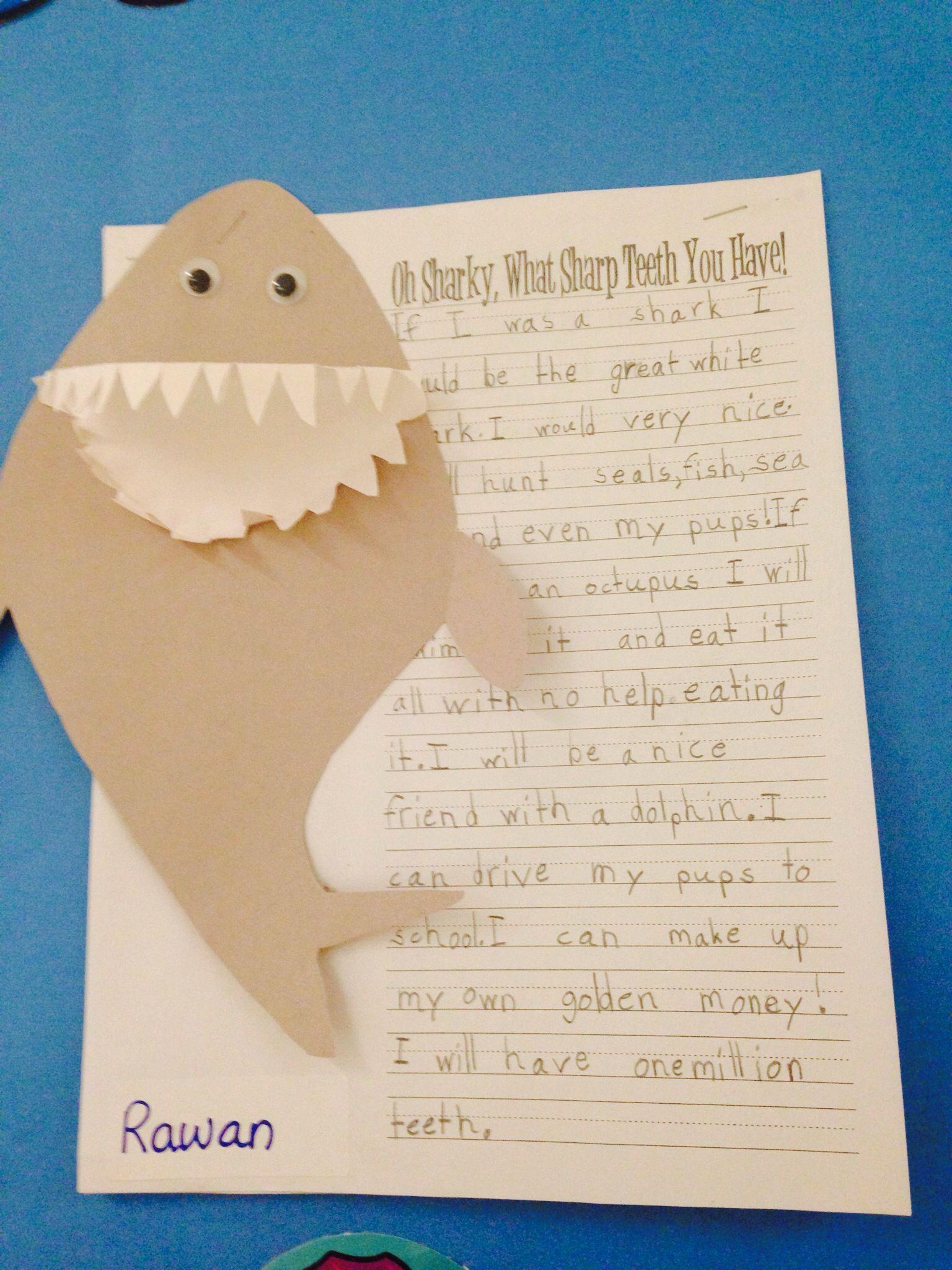 Shark Writing Underwater Theme