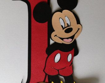 6 o 11 decoración fiesta Mickey mouse por CriCriDecor en Etsy