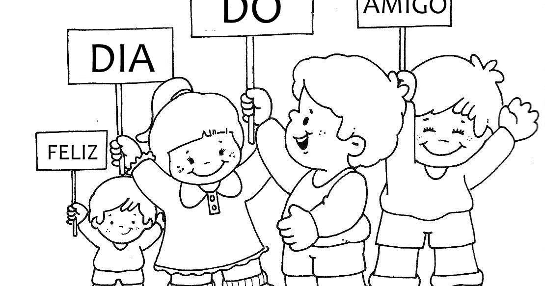 Desenhos Do Dia Do Amigo Para Colorir Pintar Imprimir Ou