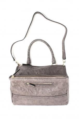 Givenchy Pandora bag medium grey. Sheep leather hand bag or shoulder bag in grey  color 1ead302df7be1