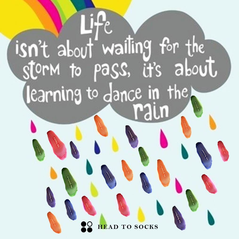 Physical Therapy Quotes Be Positive  Let's Dance In The Rain Headtosocks Pilates