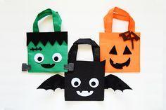 Trick-or-Treat! 30 DIY Halloween Treat Bags: DIY Mini Halloween Treat Bags