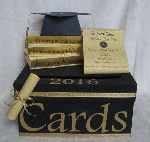 Graduation Card Party Box 2016 Graduation Party Decoration Graduation Card Box Graduation Card Boxes Graduation Party Senior Graduation Party