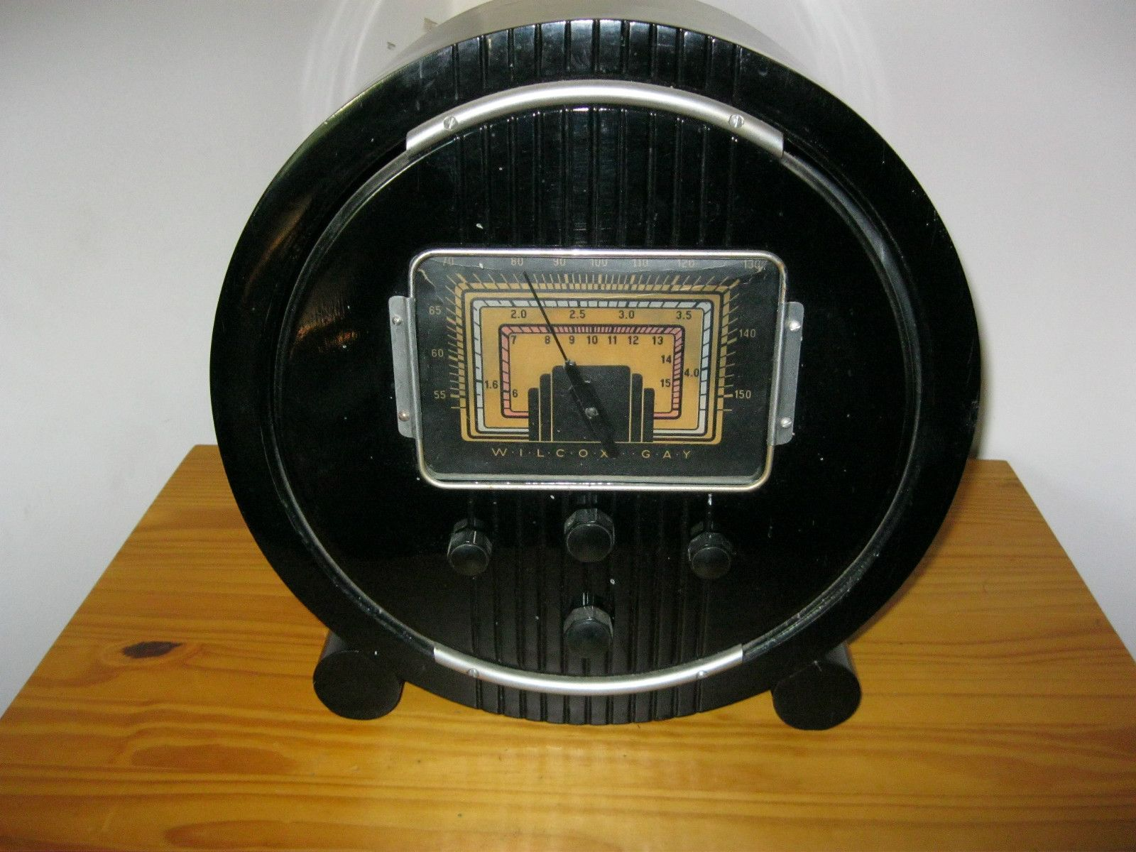 Wilcox GAY Radio Tube Wooden Deco Cathedral Style Near Museum Condition | eBay